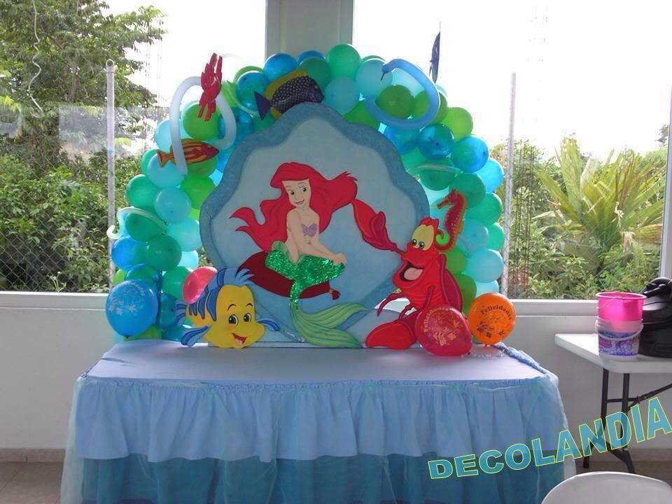 Decoración Para Fiesta De Sirenita Fiestas De Sirenita