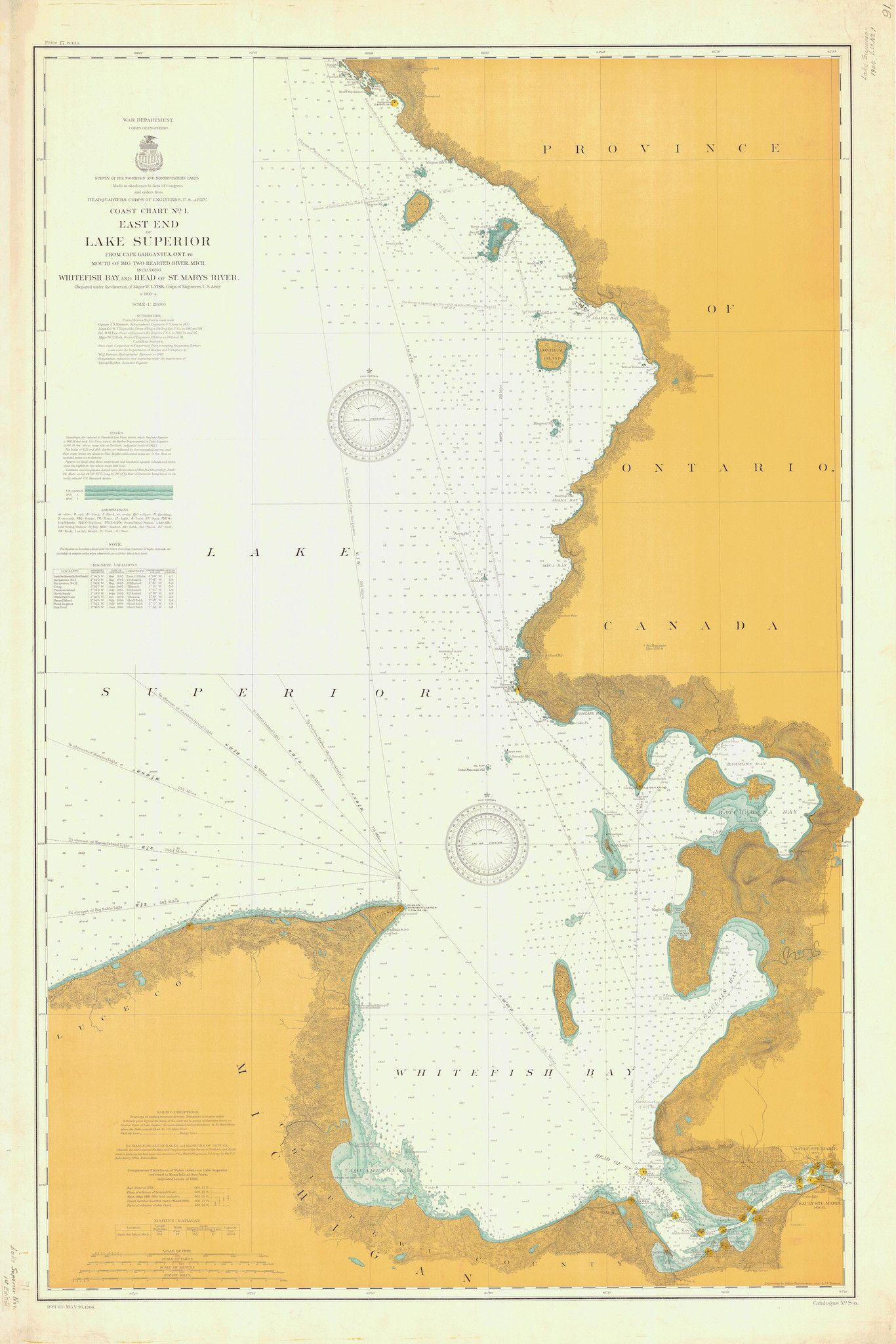 Lake superior east end whitefish bay historical map 1904 a beautiful high quality print of the historical map of lake superior east end whitefish bay historical map from we take great care to ensure that the be freerunsca Choice Image