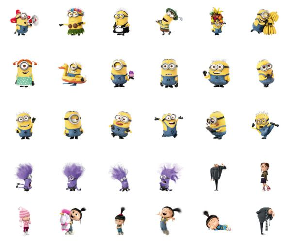 Despicable Me 2 Facebook Chat Stickers | minions | Despicable me 2