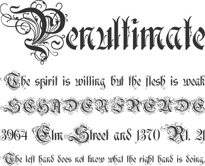 Rothenburg Decorative Font Phrases A Very Ornate Typography Fancyfont