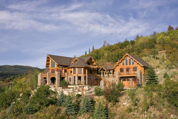 Mountain Side Log homes, Timber house, Home