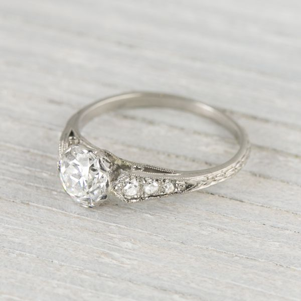 94 Carat Art Deco Vintage Engagement Ring Circa 1920s Would Look Better With 1 To 2