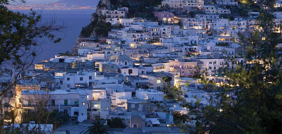 The beautiful Isle of Capri at dusk