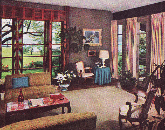 Retro 50s Living Room | Post War Vintage | From The 40s, 50s, 60s U0026 70s  (1963 Living Room)