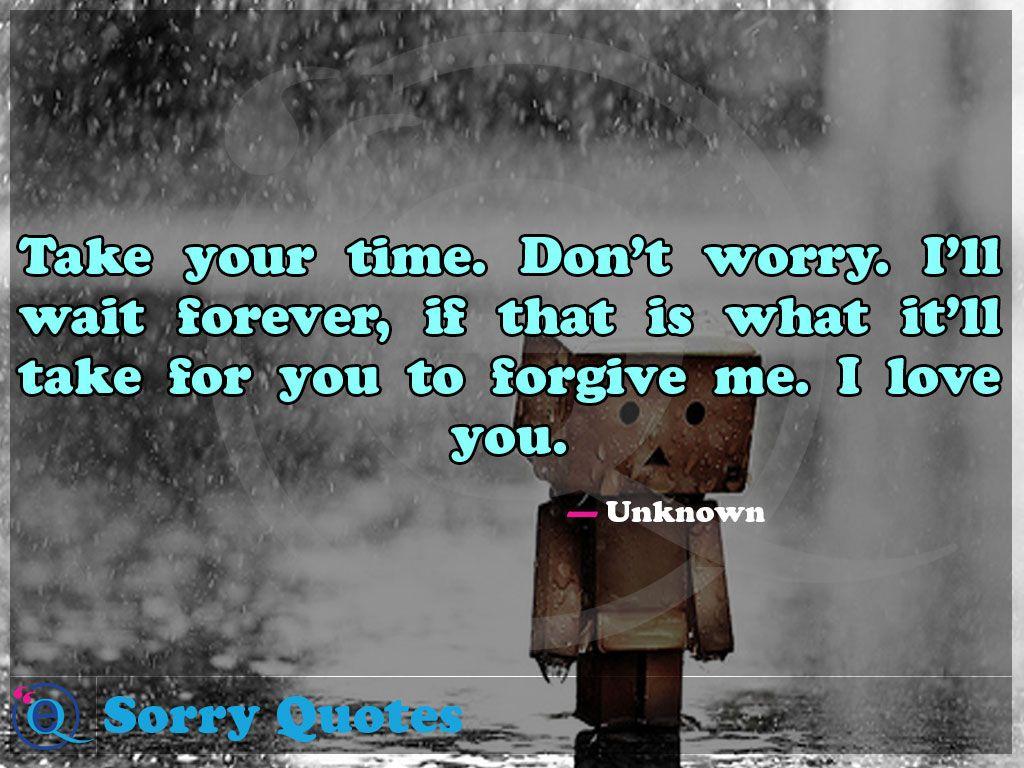 i will wait forever