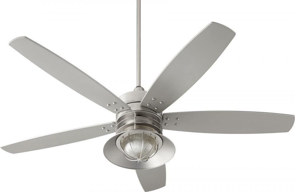 Portico 60 Quot Wet Fan Stn Uz1v Lights Unlimited Inc Ceiling Fan Ceiling Fan With Light Outdoor Ceiling Fans