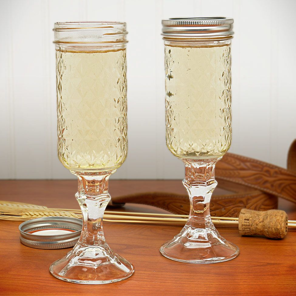 Mason Jar Wine Glasses