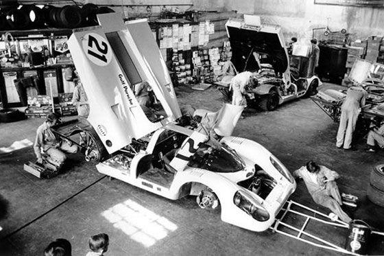 24 heures du mans 1970 porsche 917k 21 pilotes pedro rodriguez leo kinnunen abandon - Garage volkswagen le mans ...