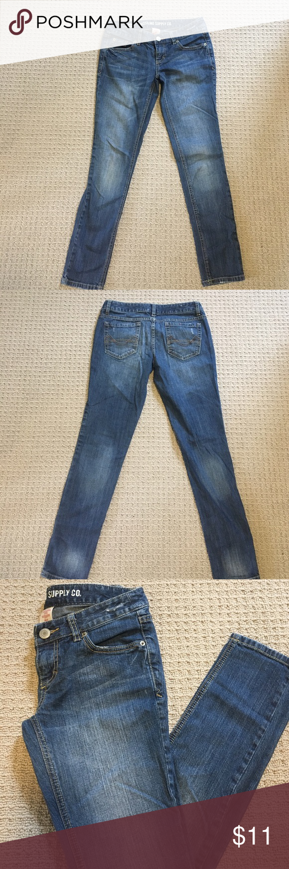 Mossimo Skinny Denim Jeans Skinny denim jeans! Excellent condition, worn a couple times, don't fit anymore! Mossimo Supply Co. Jeans Skinny