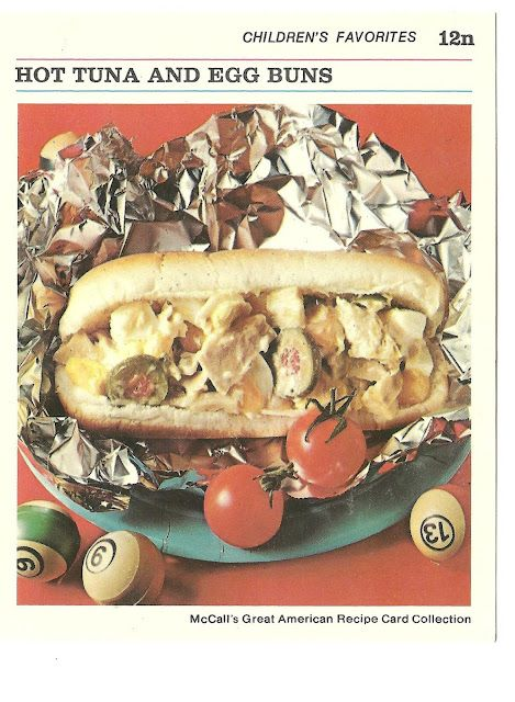 Hot tuna and egg buns mccalls great american recipe card hot tuna and egg buns mccalls great american recipe card collection 1973 like a portable tuna casserole which i hate unfortunately forumfinder Images