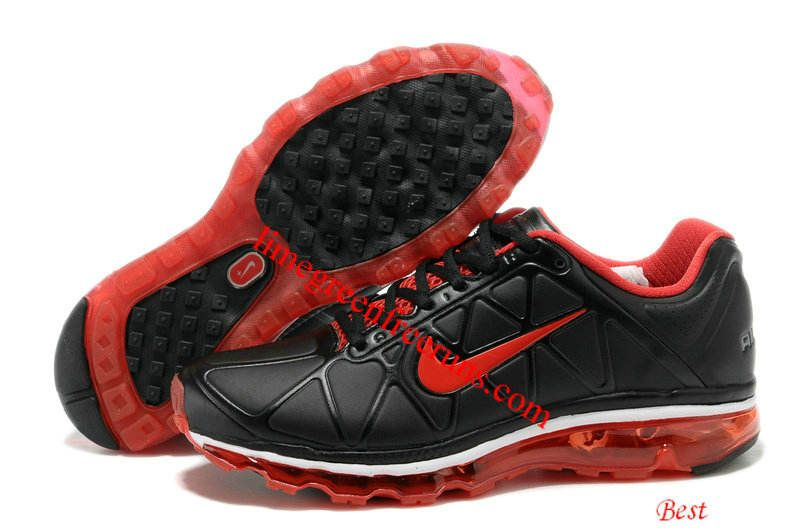 Nike Air Max 2011 Leather Black Sport Red White  5ca857964