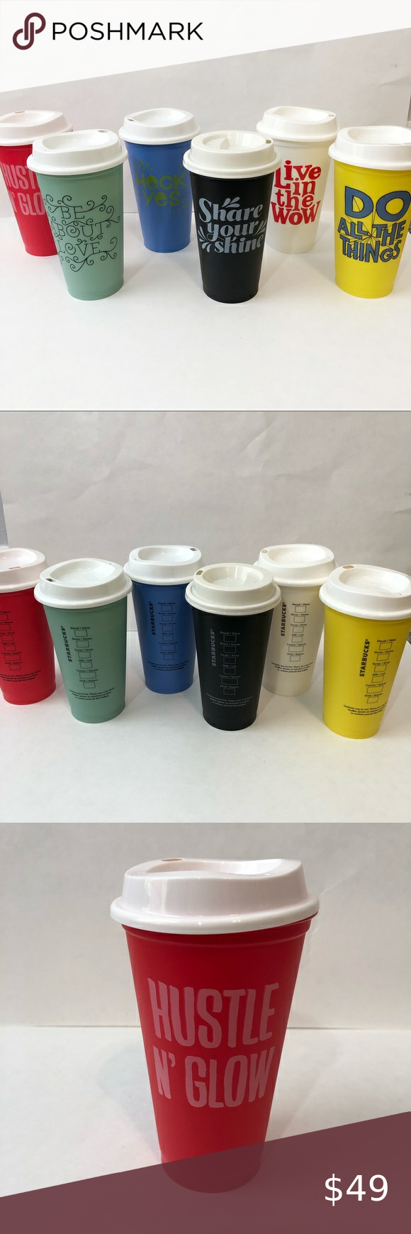 Starbucks plastic reusable coffee cup 16oz lot in 2020