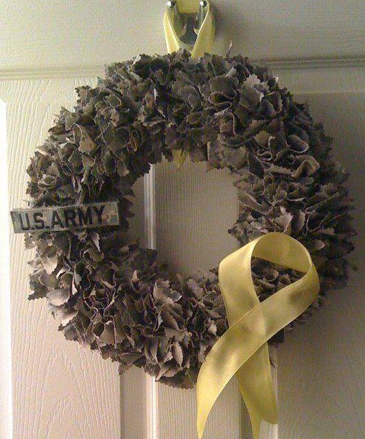 Adventures in Door Creations: Army Wreath