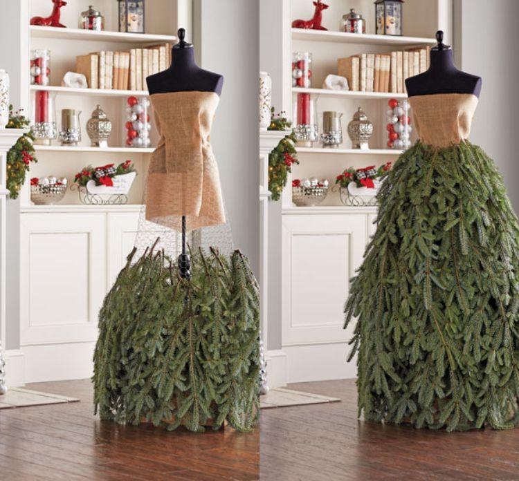 Kleid aus Tannenzweigen basteln: Anleitung für eine kreative Alternative zum Weihnachtsbaum