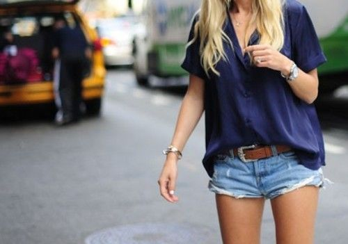 Casual navy.