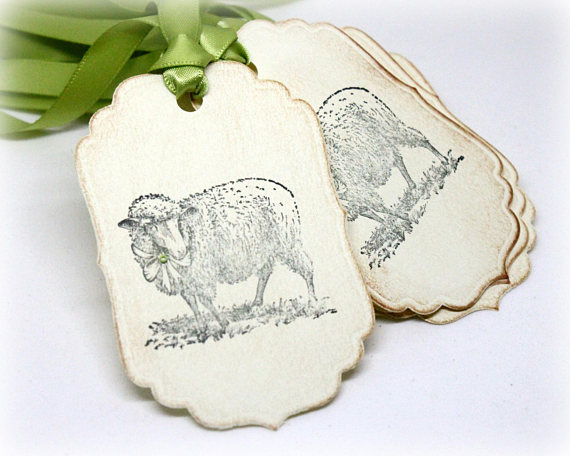Handmade easter gift tags vintage style treat labels easter handmade easter gift tags vintage style treat labels easter decoration lamb gift tags negle Gallery