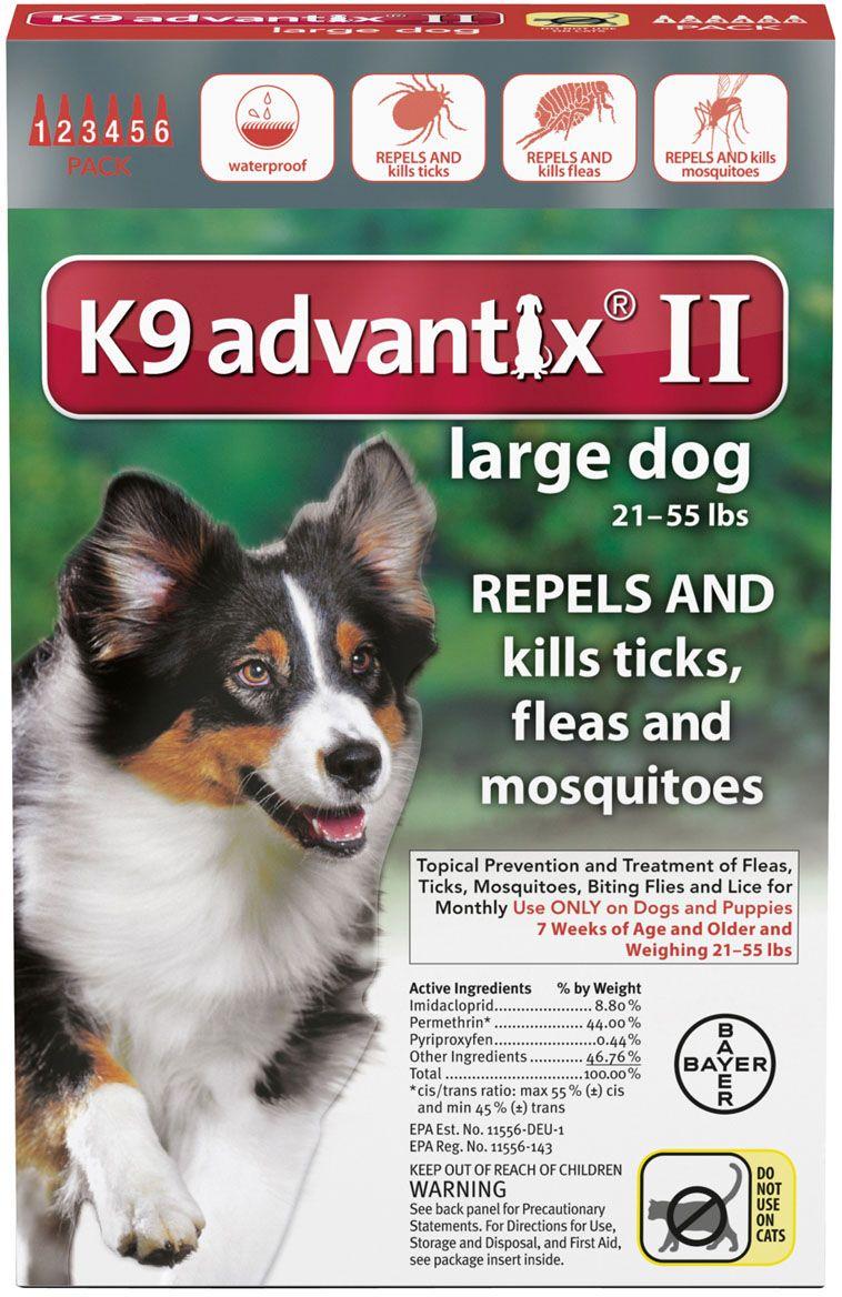 K9 Advantix Ii 6 Pk Dogs 21 55 Lbs Red Products Flea Tick