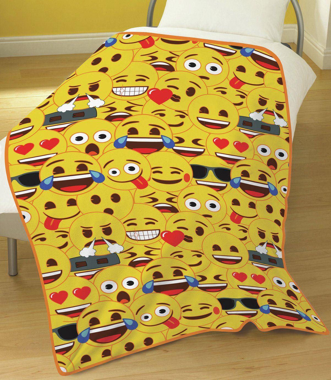 Emoji Yellow Faces Fleece Blanket 11 00 Argos Blanket Emoji Yellow