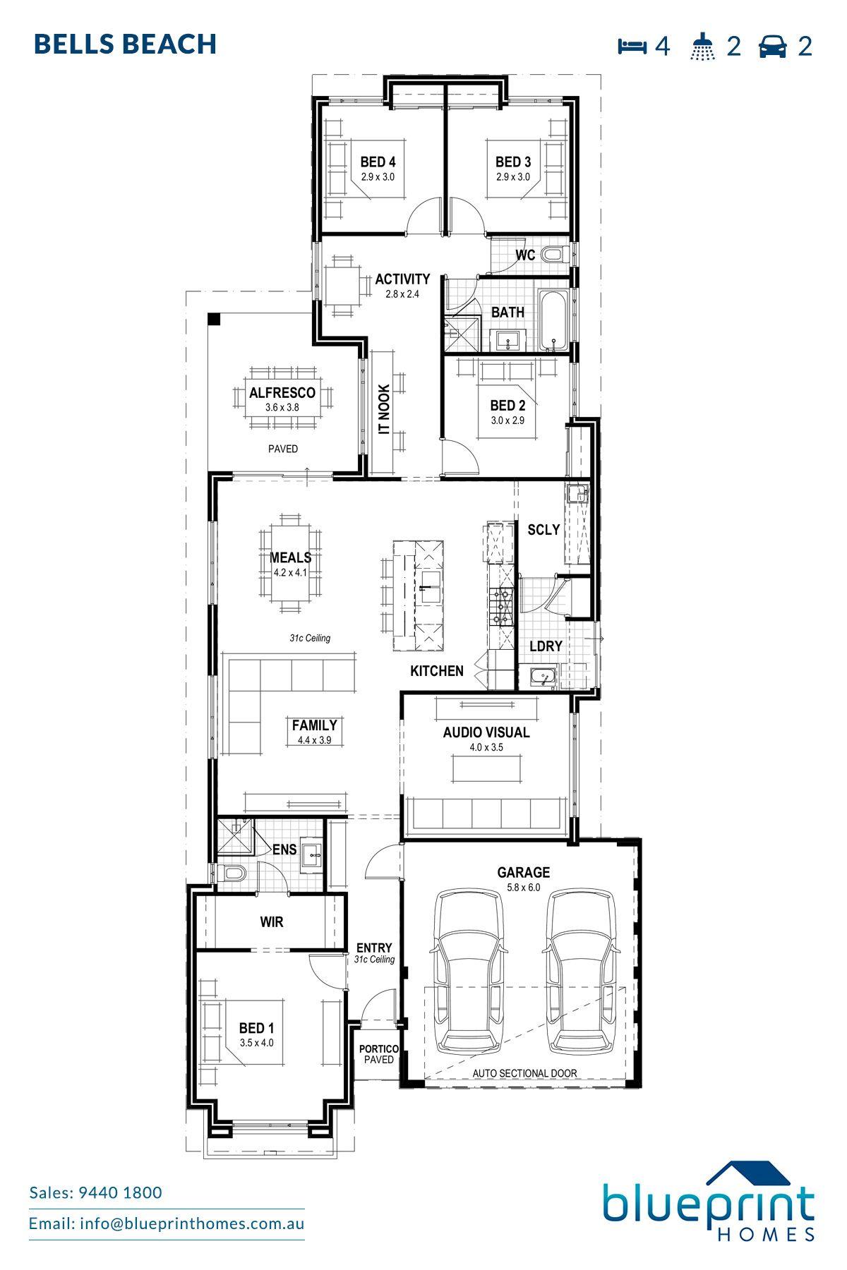 Bells Beach Perth Home Design Blueprint Homes House Design Home Design Plans Beach House Design