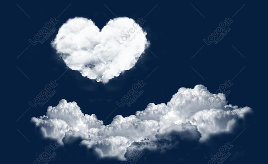 Fluffy Heart Shaped Cloud