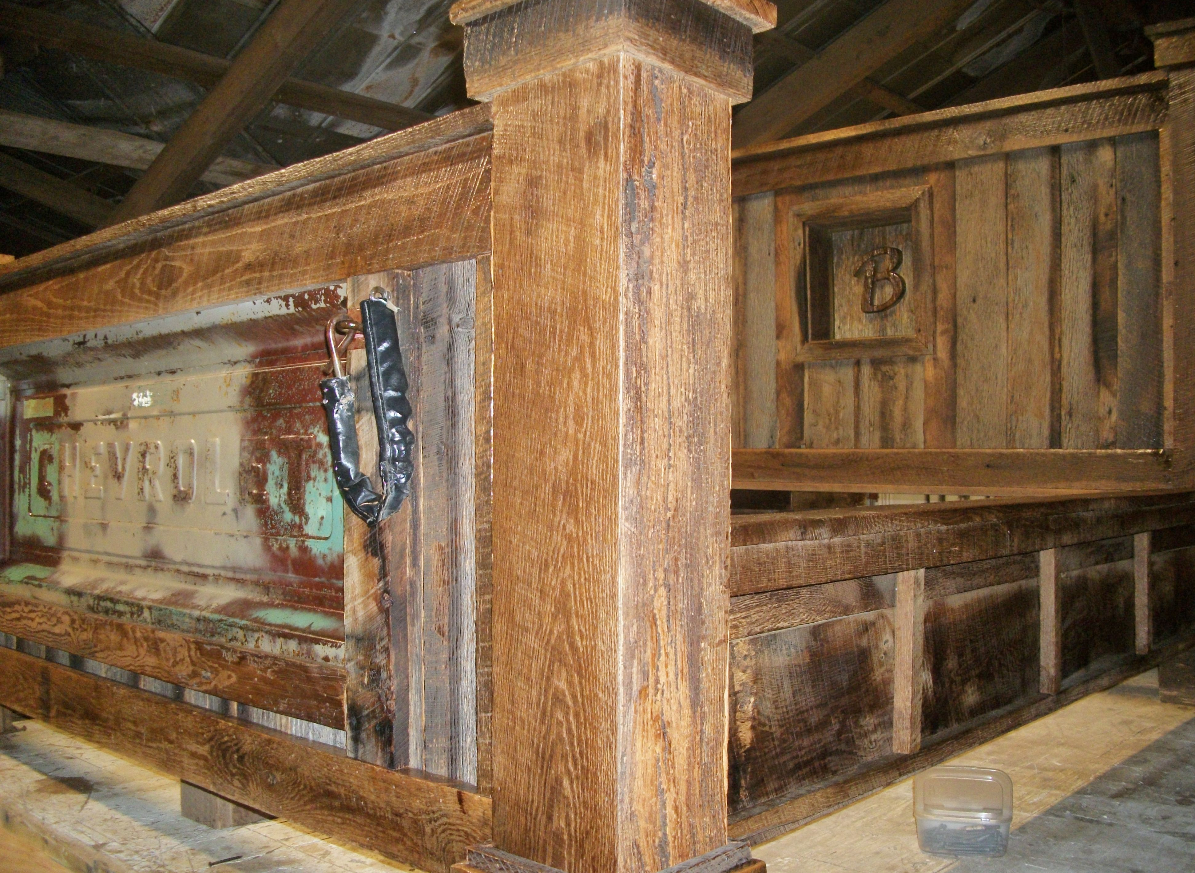 Custom bed by Barn Wood Furniture in Union Grove, Alabama features ...