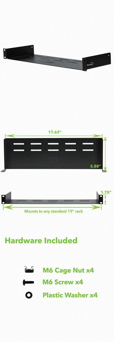 Universal Rack Tray Vented Shelves Rack Mount 19 1u 6 150mm Deep No Lip Patch Panels No Lips Lips