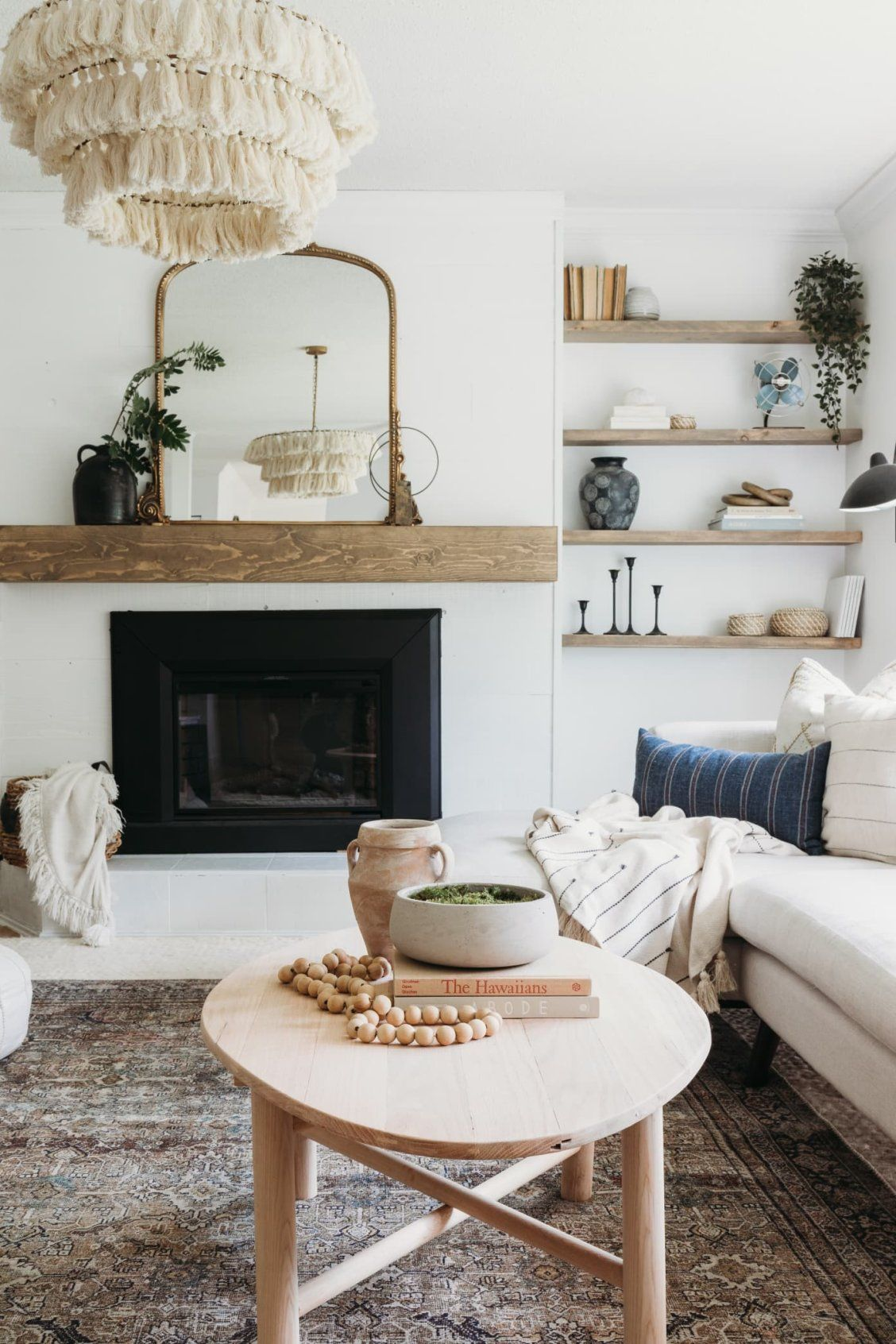 This Formerly Small Dark Rental Proves The Power Of Paint And Styling In A Space You Don T Own Surfboard Coffee Table Home