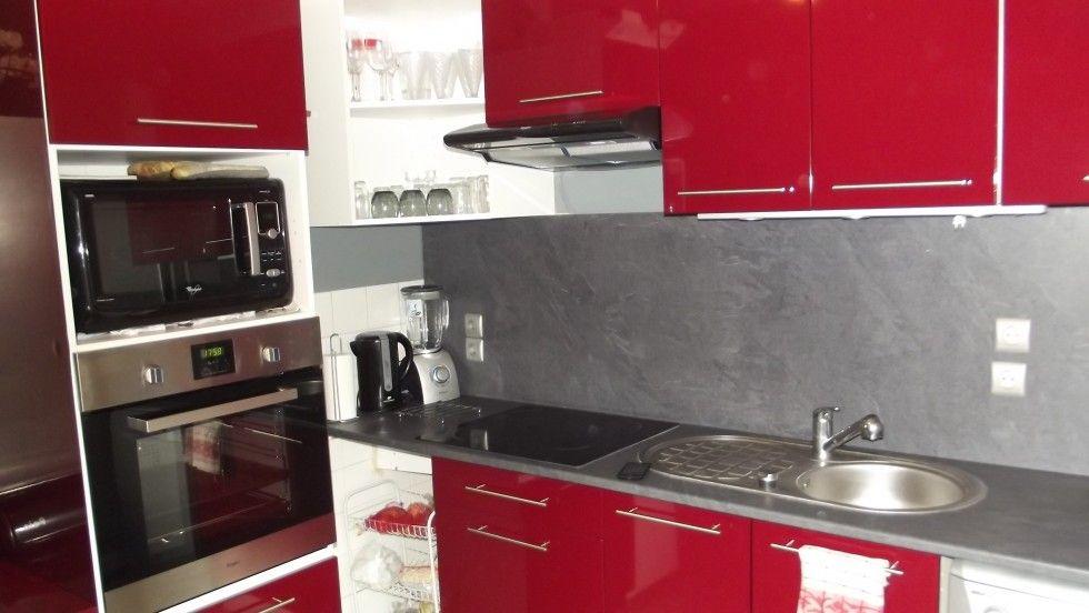 Nouvelle Cuisine Rouge Et Grise Photo 1 5 3522194   Deco Cuisine Rouge Et  Grise   Apsip.com