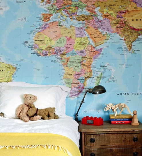 Pin by sara rae on big boys room pinterest spaces bedrooms fiona richardson and familys home in melbourne world map wallpaper gumiabroncs Choice Image