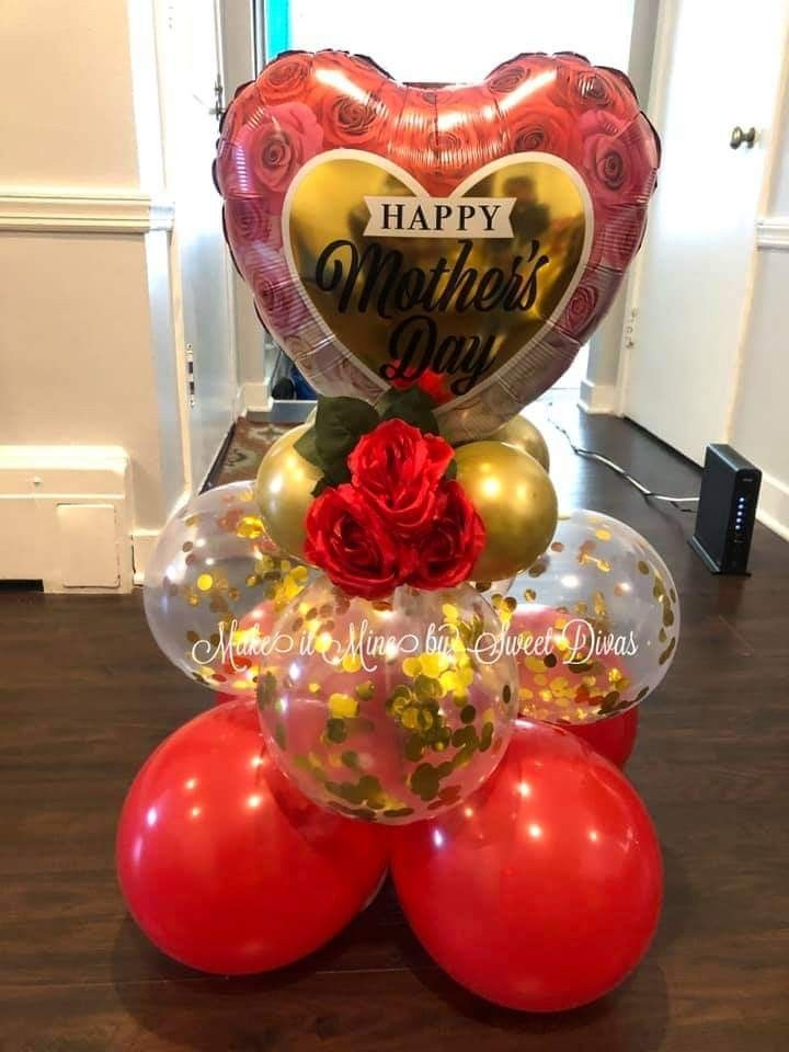 """18/""""  BALLOON TABLE DISPLAY  I LOVE YOU  AIR FILL NO HELIUM VALENTINE Red /& black"""