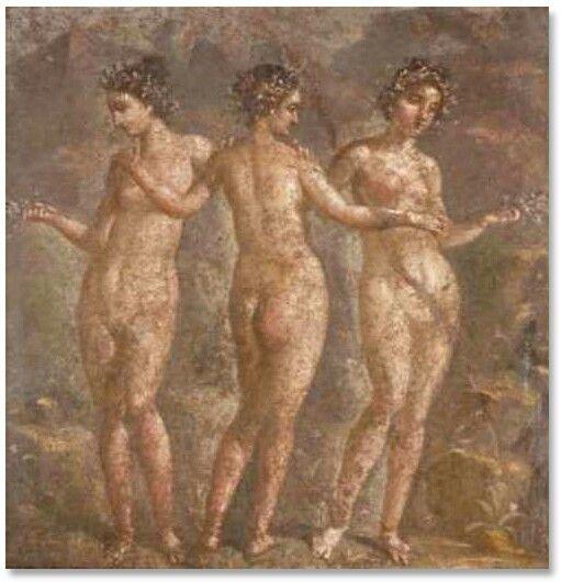 Resultado de imagen de LAS TRES GRACIAS ROMA