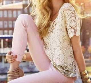 Lace with pink