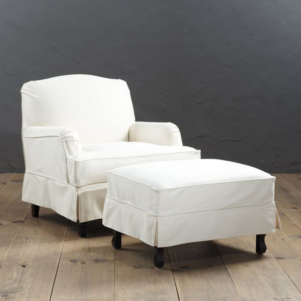 Rebecca Chair And Ottoman Slipcover And Frame Chair And Ottoman Slipcovers For Chairs Ottoman Slipcover
