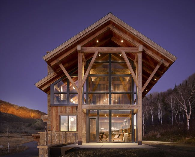Reed Residence By Robert Hawkins Architects Rustic Modern Cabin Eco House Colorado Homes