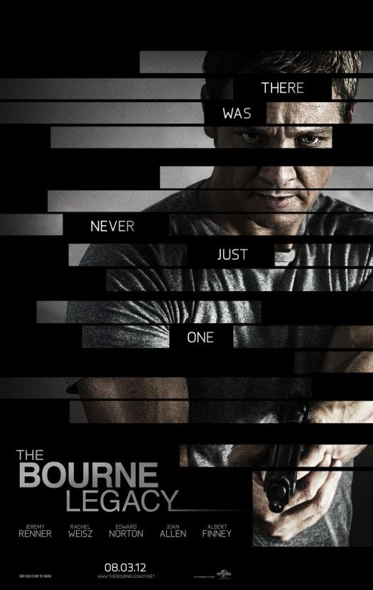The Bourne Legacy, 2012 Jeremy`s character name is Aaron Cross.