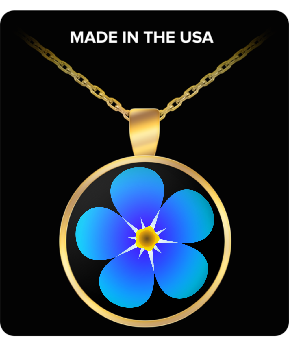 Forget Me Not Masonic Necklace Freemasonry Accessories Lodge
