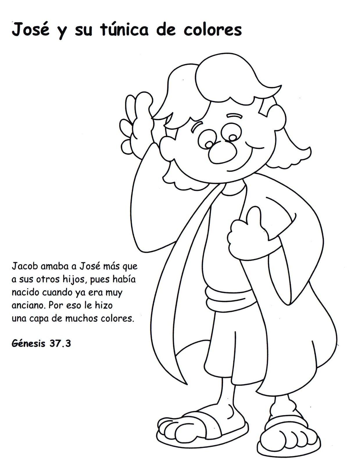 Actividades para colorear de José y su túnica. José era un niño que ...