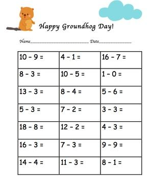 Happy Groundhog Day! Freebie | February/Valentine | Pinterest