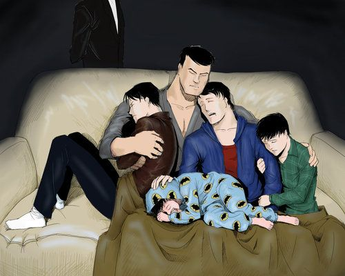 Bat Family - Bruce, Dick, Jason, Tim, And Damian  Batfamilydc  Batman Family -5459
