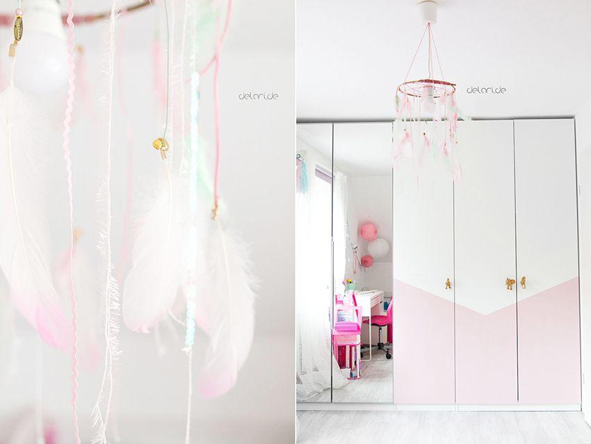 Selbgemachte Kinderzimmerlampe DIY im Kinderzimmer