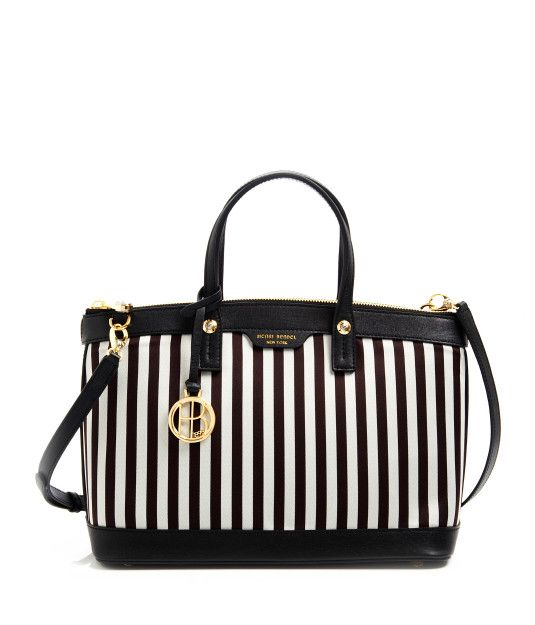 Miss Bendel Satchel Bag Brown White