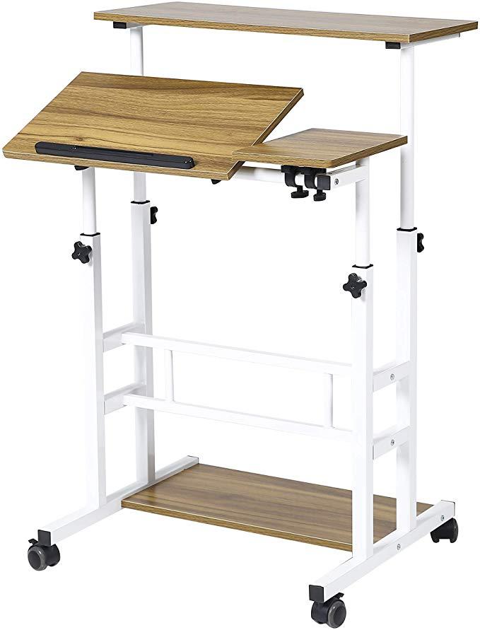 Amazonsmile Unicoo Height Adjustable Sit Stand Workstation