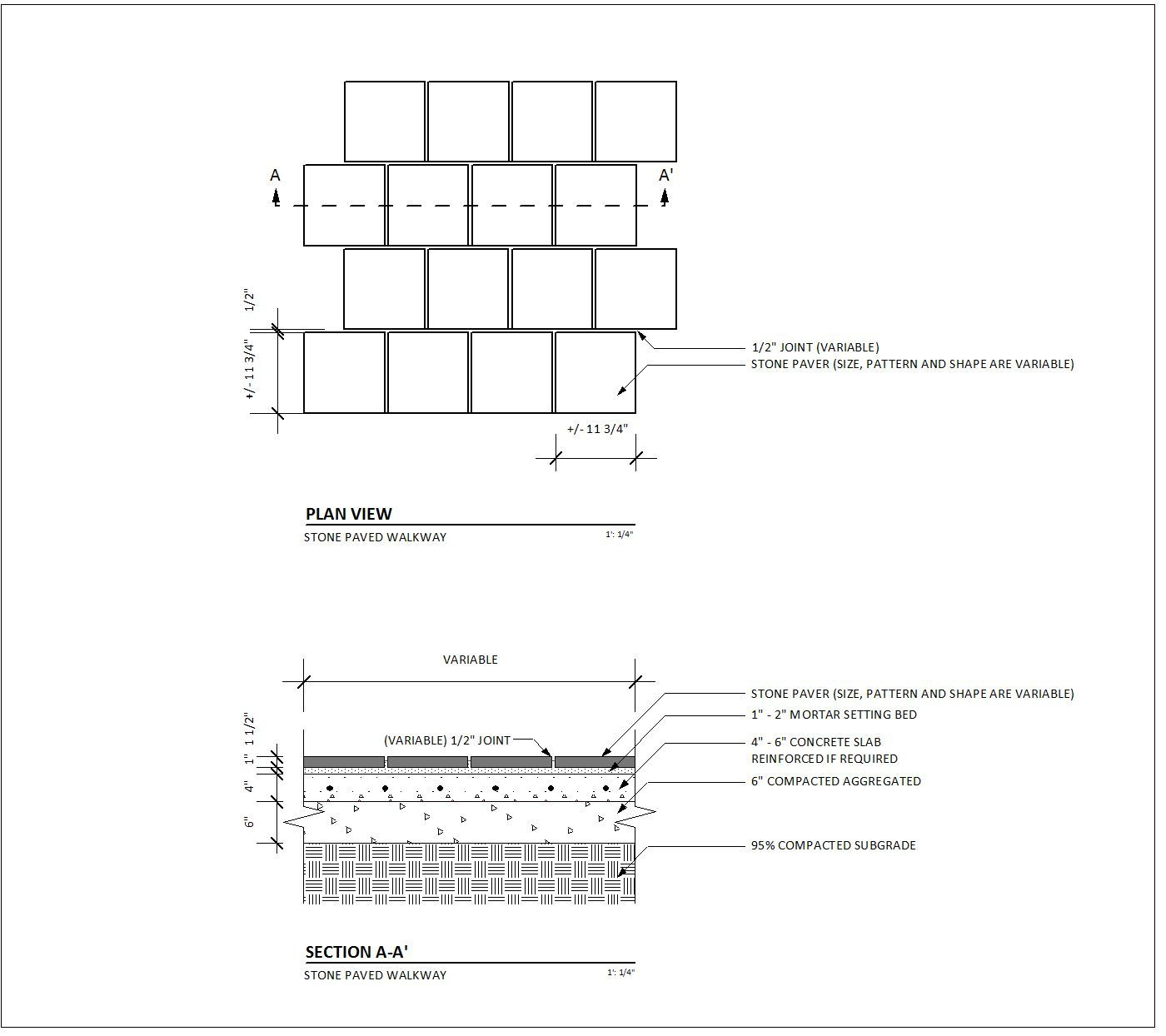 Paving Detail Plan And Section Paving Pattern Pavement Design Paving