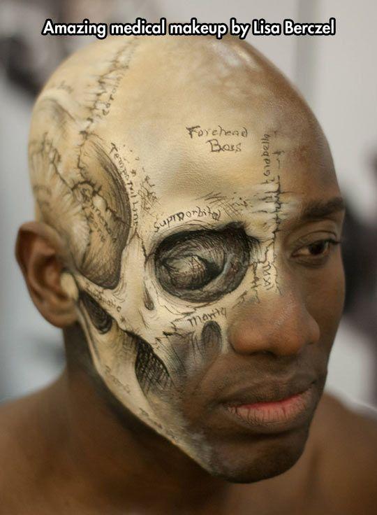 Clever Medical Makeup | Maquillaje, Maquillaje artístico y Anatomía