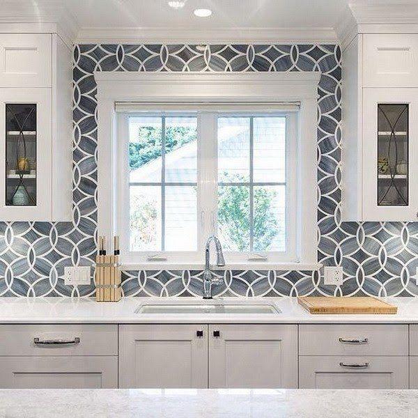 Download Wallpaper White Kitchen Gray Backsplash