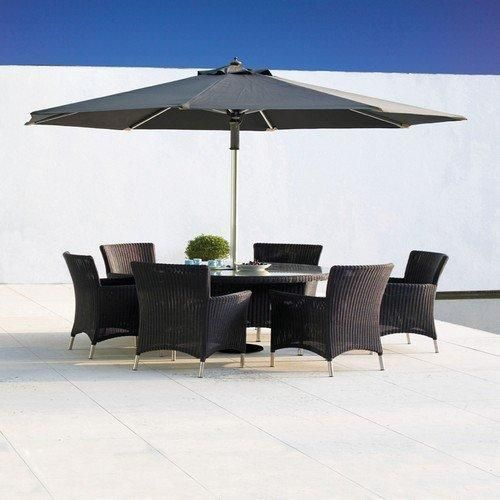 Valencia 15m Round Table with 6 Valencia Armchairs in Ebony Dining