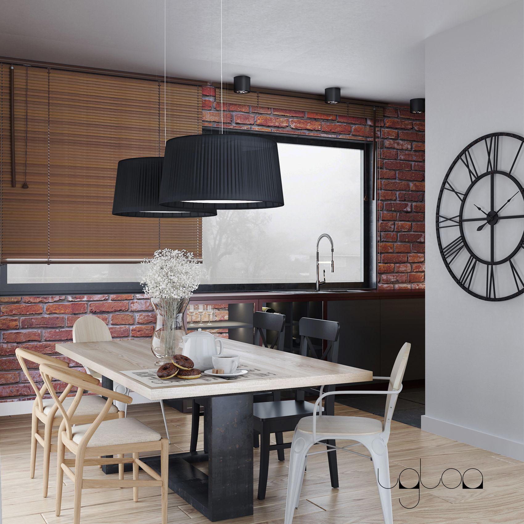 Jadalnia W Stylu Soft Loft Home Decor Conference Room Table Decor