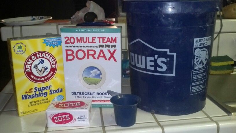 Homemade Laundry Detergent Get A 5 Gallon Bucket And Fill It