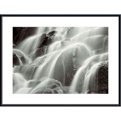 Printfinders Waterfall Yosemite By Huntington Witherill Framed Photographic Print Frame Color Black