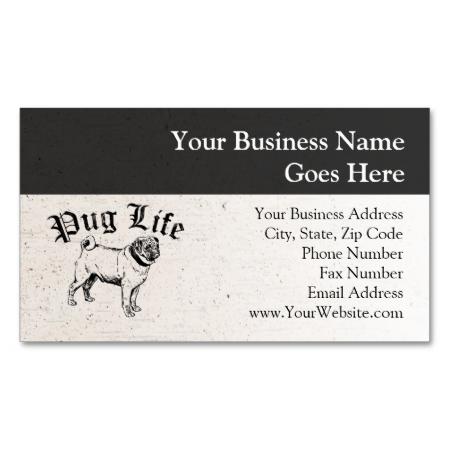 Pug Life Funny Dog Gangster Business Card Zazzle Com Pug Life Funny Dogs Pugs